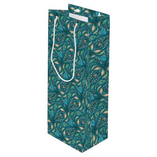 Elegant Wedding Gift Bags : Elegant wedding floral rustic beautiful pattern wine gift bag Zazzle