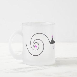 Elegant Wedding Glass 10 Oz Frosted Glass Coffee Mug