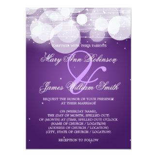 Elegant Wedding Glow & Sparkle Purple Card