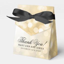 Elegant Wedding Gold Glitter Lights Favor Box