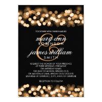 Elegant Wedding Gold Hollywood Glam Card (<em>$2.15</em>)