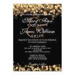 Elegant Wedding Gold Lights Card at Zazzle