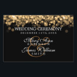 """Elegant Wedding Gold Lights Yard Sign<br><div class=""""desc"""">Elegant wedding &quot;sign&quot; design with Gold Lights ,  custom names and date text. Impress your family and friends with this stylish and modern design. Fully customizable! Easy to use and easy to personalize</div>"""