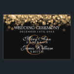 "Elegant Wedding Gold Lights Yard Sign<br><div class=""desc"">Elegant wedding &quot;sign&quot; design with Gold Lights ,  custom names and date text. Impress your family and friends with this stylish and modern design. Fully customizable! Easy to use and easy to personalize</div>"