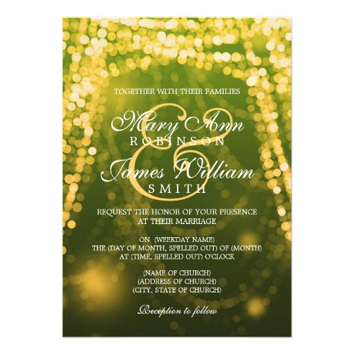 3,000+ Green And Gold Wedding Invitations, Green And Gold ...