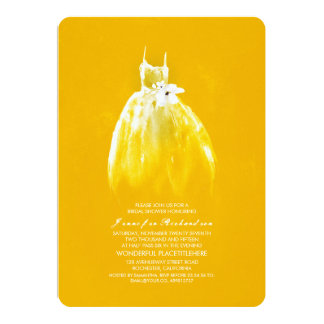 Elegant Wedding Gown Bridal Shower Invitations