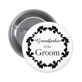 Elegant wedding Grandfather of the Groom Button