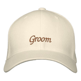 Elegant Wedding Groom Embroidered Baseball Cap
