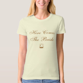 Elegant Wedding Here Comes The Bride T-Shirt