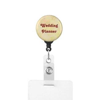 Elegant Wedding I.D. Badge Holder