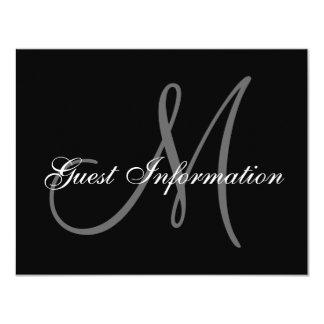 Elegant Wedding Information Card with Monogram