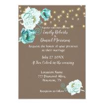 Elegant Wedding Invitation Gray With Light Blue