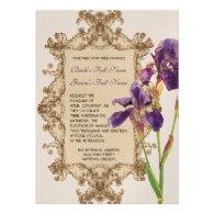 Elegant Wedding Invitation - Purple Elegant Iris