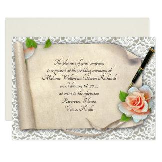 Elegant Wedding Invitation Scroll