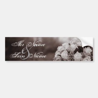 Elegant Wedding Invitations 12 Bumper Sticker