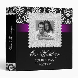 Elegant Wedding Jewels Purple Black White Photo Binders
