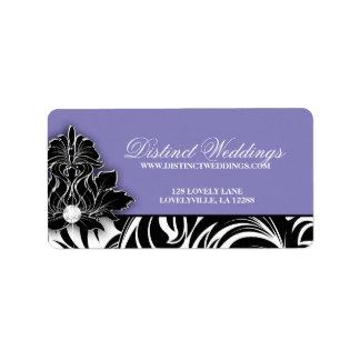 Elegant Wedding Label Jewelry Logo Mauve
