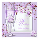 Elegant Wedding Lavender Purple Lilac 4b Personalized Announcement