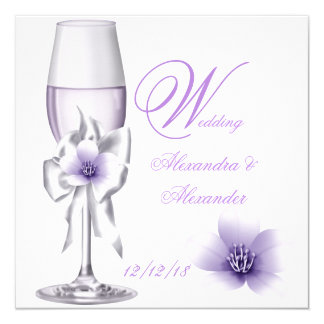 Elegant Wedding Lavender Purple Lilac AB Card
