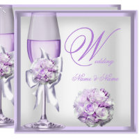 Purple Wedding Invitations | Zazzle