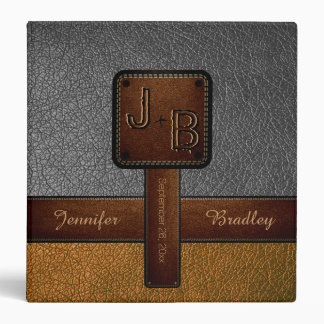 Elegant Wedding Leather Look #3 Binder