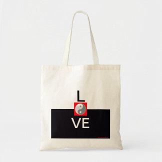 Elegant Wedding Love Bridesmaid Yin Yang Bride Tote Bag