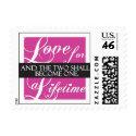 Elegant wedding love stamp stamp