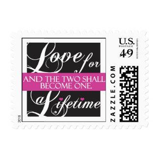 Elegant wedding love stamp