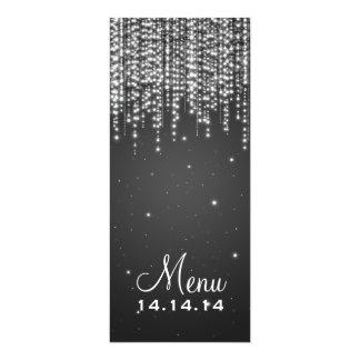 Elegant Wedding Menu Night Dazzle Black Custom Invitations
