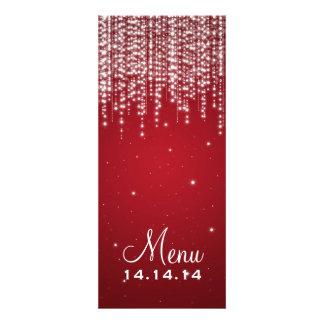 Elegant Wedding Menu Night Dazzle Red Custom Invites