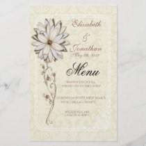Elegant Wedding Menu Stationery