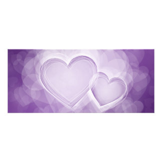Elegant Wedding Modern Hearts Purple Custom Invite