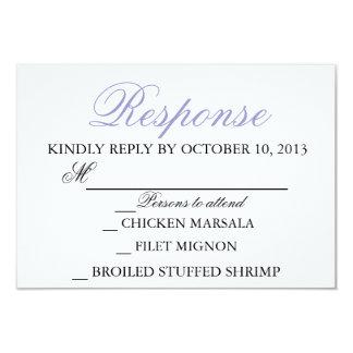 Elegant Wedding Modern Invitation Response Card