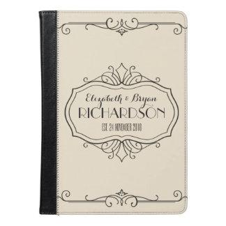 Elegant Wedding Monogram Choose Your Own Color Hue iPad Air Case