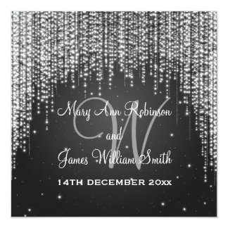 Elegant Wedding Night Dazzle Black Card