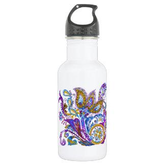 Elegant wedding ornament. Stylish paisley design Stainless Steel Water Bottle