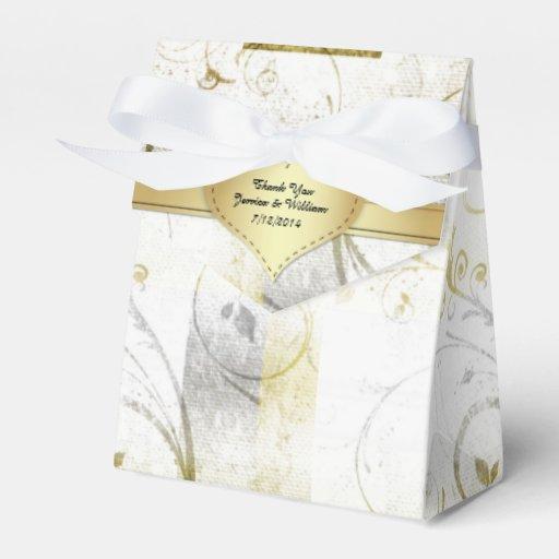Silver Wedding Gift Experiences : Elegant Wedding Paper Wedding Favor Gift Box Favor Box Zazzle