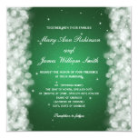 Elegant Wedding Party Sparkle Emerald Green Card