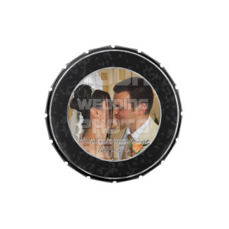 Elegant Wedding Photo Candy Tin