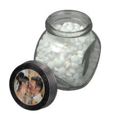 Elegant Wedding Photo Glass Candy Jar at Zazzle