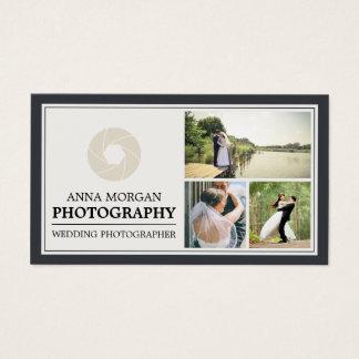Elegant Wedding Photographer Photography Business Card