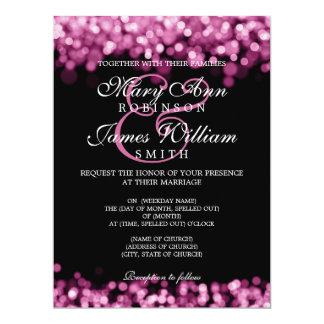 Elegant Wedding Pink Lights Card