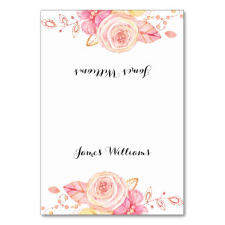 Elegant Wedding Place Cards Flowers And Pearls