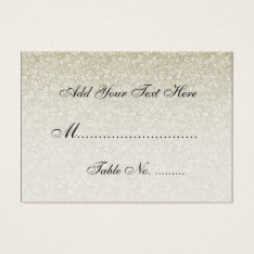 Elegant Wedding Placecards Faux Gold Glitter Business Card at Zazzle