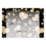 Elegant Wedding Placecards Gold Glitter Hearts Business Card Templates