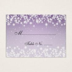 Elegant Wedding Placecards Winter Sparkle Purple Business Card at Zazzle