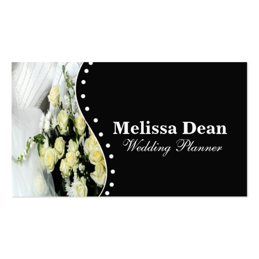 Elegant Wedding Planner Business Card