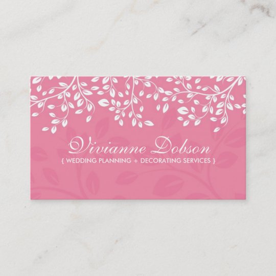 elegant wedding planner business cards - Wedding Planner Business Cards