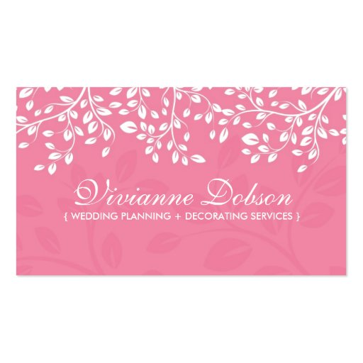 elegant wedding planner business cards zazzle