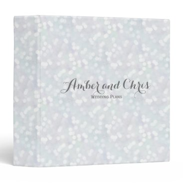 Beach Themed Elegant Wedding Planner Pastel Bokeh Pattern Binder